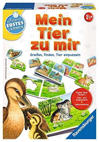 Ravensburger 24731 - Mein Tier zu mir - Puzzelspiel für die Kleinen - Spiel für Kinder ab 1 und 1/2 Jahren, Spielend erstes Lernen für 1-4 Spieler