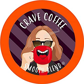 Crave Beverage Smooth Blend - Colombian Medium Roast Coffee Pods for Keurig K Cup Brewers 100 Count