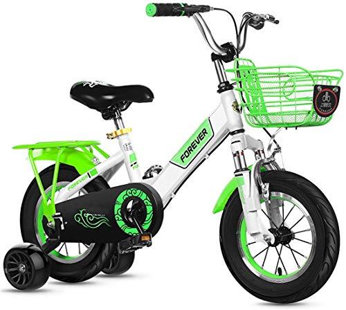 FEE-ZC Universelles Fahrradfahrrad mit 2 Hilfsrädern und Vorder- und Hinterradbremsen für Kinder