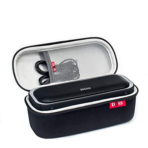 DOSS SoundBox Pro Portable Wireless Bluetooth Speaker Bundle with Protective Travel Case - Blue