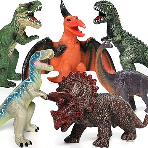 6 Piece Dinosaur Toys for Kids a...