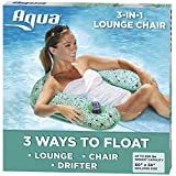 Aqua Mosaic 3-in-1 Pool Chair Lounge, Inflatable Pool Float,...