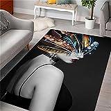 Alfombra Carretera Infantil Gris Alfombra de Sala de Estar Gris Abstracto Simple patrón Suave Alfombra Anti-ácaros Antideslizante alfombras 120X160CM Decoracion habitacion Bebe 3ft 11.2''X5ft 3''