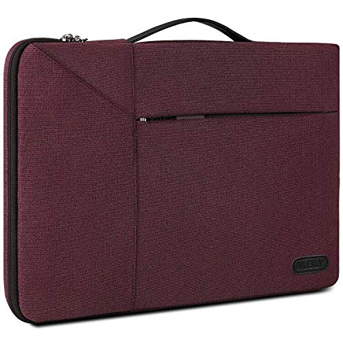 13.3-14 Inch Laptop Sleeve Case Briefcase Waterproof Shock Resistant Laptop Case Bag with Accessory Pocket Red
