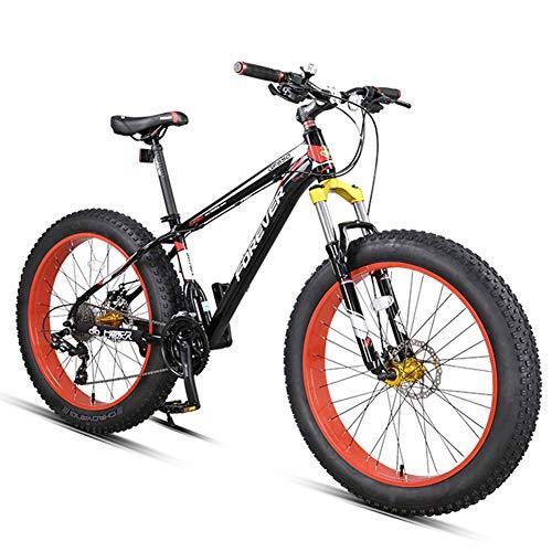 Nengge 27 versnellingen-schakeling vette banden, 26 inch aluminium frame hardtail MTB, jeugd dames volwassenen fiets met schijfremmen