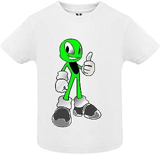 Blanc Manche Courte Bébé Garçon access-mobile-ile-de-re.fr T-Shirt Emoticons Alien 18mois Col Rond