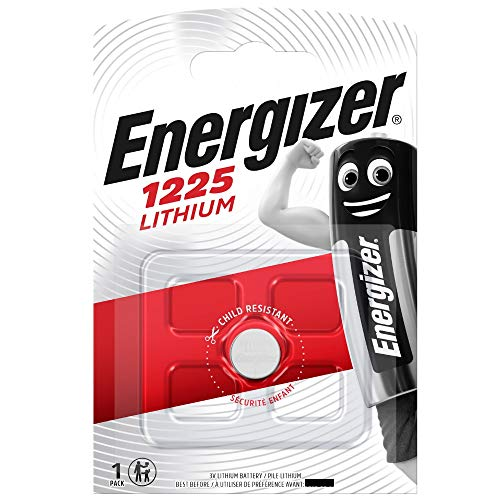 Energizer CR1225 BR1225 Lithium-Knopfzelle, 3 V, Blisterverpackung, 4 Stück