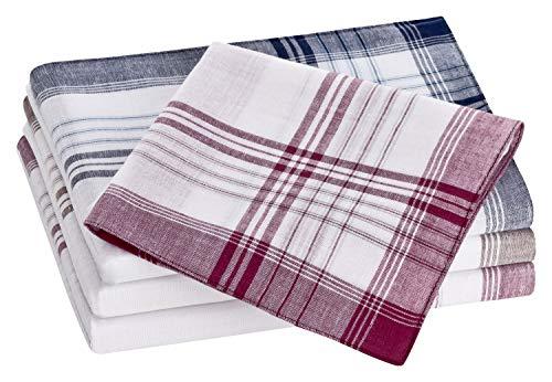 Tobeni 10 Pièces Homme Mouchoirs Tissu 100% Coton Peigné Couleur Design 16 Taille 40 cm x 40 cm