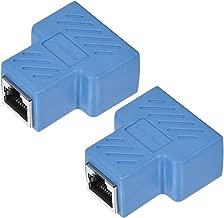 Conector en L/ínea 1 a 2 Divisor Cat7 Cat6 Cat5e Adaptador Extensor Cable Ethernet 37x44x21mm Blanco 5uds sourcing map Acoplador Divisor RJ45