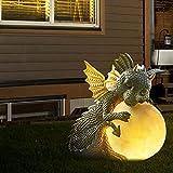 MRZJ Dinosaurier Gartenfiguren Gartendeko Figuren für Außen Zen Garten Kleine Dinosaurierform Meditationsskulptur Home Desk Dragon Meditierte Statue 16cm D