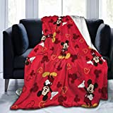 SDINAZ Bed Throws Mickey Mouse Flannel Throw Blanket Ultra Soft Plush Bed Blanket Cozy Lightweight Couch Blanket for Adults and Kids(40in50in)