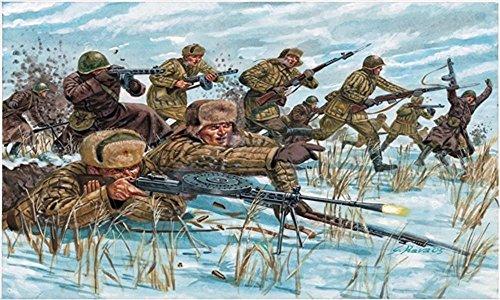 Italeri 6069 - WWII Russian Infantry (Winter Uniform) Scala 1:72