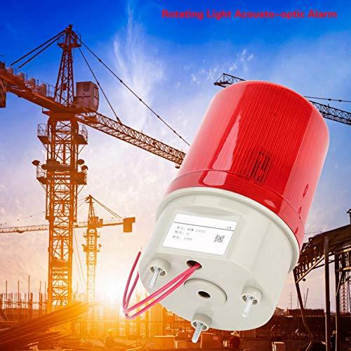 Luz Estroboscópica LED De Emergencia 220 V Luces De Advertencia LED Rojas Alarma Acústica óptica Luz Giratoria Luz Estroboscópica Intermitente Para Talleres Grúas Torres Y Construcción De Tráfico