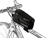 Roswheel Attack Series 121370 Waterproof Bike Front Frame Bag Bicycle Tube Top Pannier Cycling Accessories Pack with Phone Holder, Black