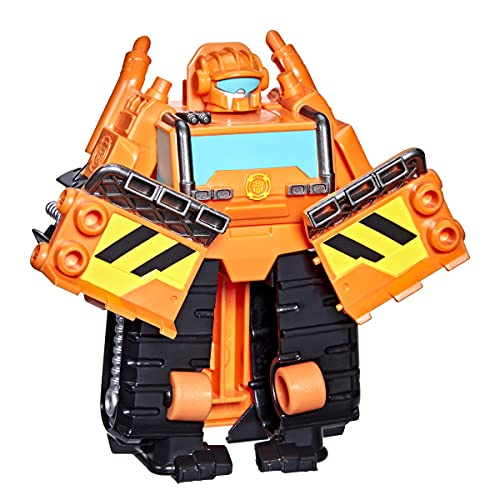 """Transformers Playskool Heroes Rescue Bots Academy Wedge The Construction-Bot Converting Toy, 4.5"""" Figure, Toys for Kids Ages 3 & Up"""