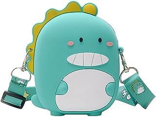 Se-raphine Little dinosaur سيليكون الأطفال الأميرة محفظة حقيبة يد الكتف حقيبة الكتف حقيبة هدية للأطفال