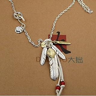 高桥吾郎 goro's(ゴローズ) 羽根の組み合わせ フェザーセット 925銀 インディアンのスタイル 日本風潮手作業