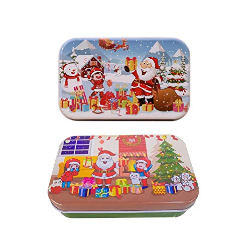 Christmas Jigsaw Puzzles for Children - Puzzle for Kids with Storage Box, 60 Pieces, 2 Set
