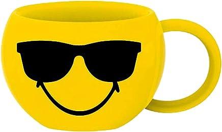Preisvergleich für zak! Espresso-Tasse Smiley-Sonnenbrille 100ml, Porzellan, Mehrfarbig 8 x 8 x 5 cm
