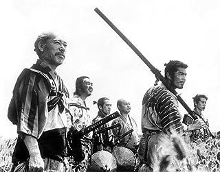 三船敏郎、志村喬、津島恵子、島崎雪子、Kamatari藤原8x10の写真をフィーチャー七人の侍