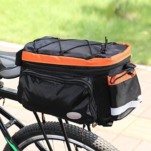 Fietsbagage met grote capaciteit, fietskar met grote inhoud, geschikt voor fietsen, reizen met regenbescherming F.