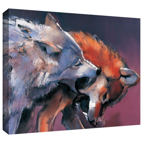 ArtWall Mark Adlington 'Two Wolves' - Lienzo decorativo (35,5 x 45,7 cm)