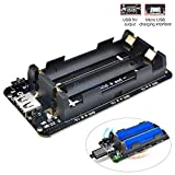 デュアル 18650 リチウムバッテリーシールド V8 3V1A 5 V 3A マイクロ Usb 電源銀行バッテリ充電のためのラズベリーパイ wifi ESP8266 ESP32