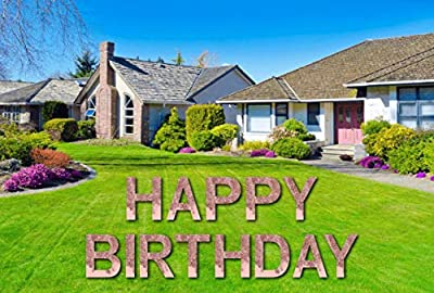 Pretty Party Signs Happy Birthday Yard Sign (Pink)