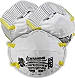 3M Particulate Respirator 8210, N95, Smoke, Dust, Grinding, Sanding, Sawing, Sweeping - 2 Packs of 20 (40 Respirators)
