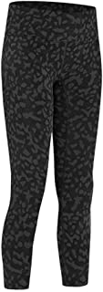 Solid Color Fitness Sports Cropped Pants Women High Waist Running Fitness Pants Hip Yoga Pants,Black Leopard Print(4)