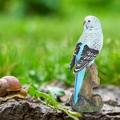 Resina Artesanato, Decoração para Casa Cofre Durável Resina Sintética Simulação Pássaro, Azul para Decoração de Paisagens Jardim Sala de Estar