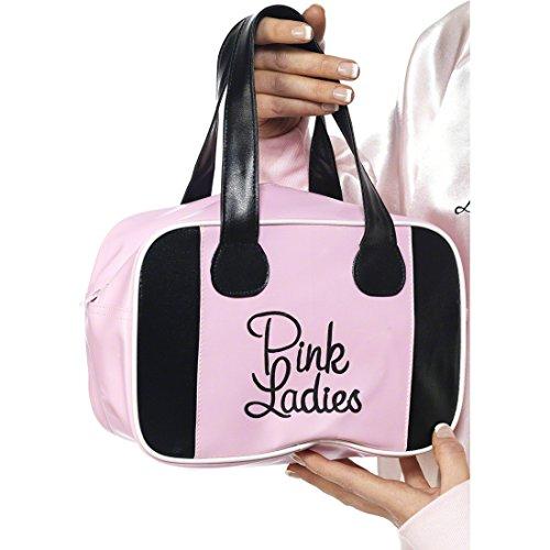 Amakando Sac de Bowling Grease Pink Lady Sac À Main pour Femme Années 50 Déguisement Accessoire