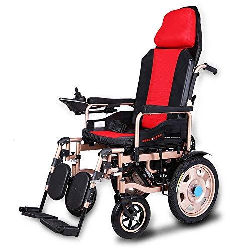 Z-SEAT Elektrorollstuhl für ältere Menschen Zusammenklappbare Rollstühle mit Verstellbarer Rückenlehne und Kopfstütze Leichter automatischer Smart Rollator