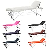 H-ROOT 3 Section Ultralégère En Aluminium Portable Table De Massage Canapé Lit Plinth Thérapie Tatoo Salon Reiki Guérissant Suédois Massage