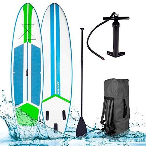 SUP Board Stand up Paddle Paddling Galaxy Neon 300x76x15cm aufblasbar Alu-Paddel Hochdruck-Pumpe Rucksack 110KG