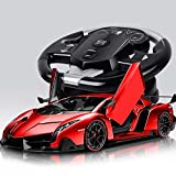 Decoración de escritorio de gran tamaño de una y diez niños de coches de juguete de control remoto 2.4G Sports Car Drift recargable Inducción de la gravedad de la simulación grande volante Cool de alt