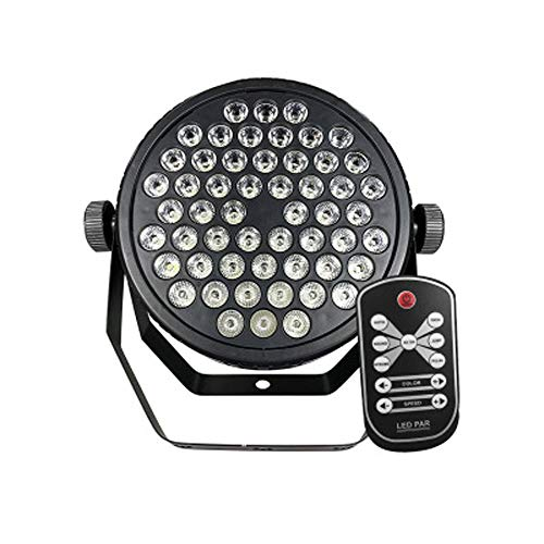 TASGK LED Disco Licht, 54 LEDs RGB Par Lights Farbmagie-Effekt Tonmischung DMX 512-Steuerung Uplighting für DJ-Disco-Party Wedding Church Music Live Show Club