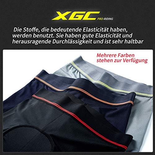 XGC Herren Radunterhose Radsportshorts Fahrradhosen mit elastische atmungsaktive 3D Gel Sitzpolster mit Einer hohen Dichte (Blue, L) - 5