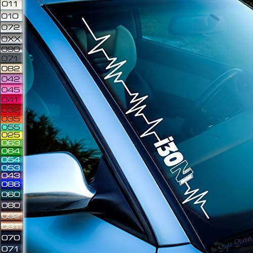 Herzschlag i 30 n Aufkleber Frontscheibenaufkleber 26 Farben Tuning Hyundai Sticker