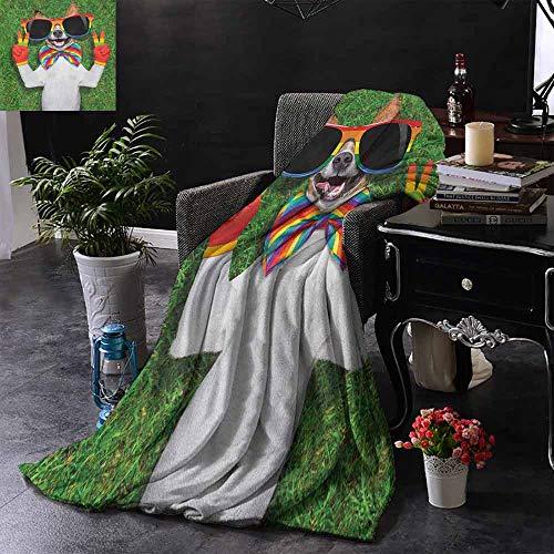 ZSUO bont gooien deken Set van elektrische gitaren met kleurrijke bloemen sterren cirkels abstracte patronen zachte zomer koelen lichtgewicht bed deken