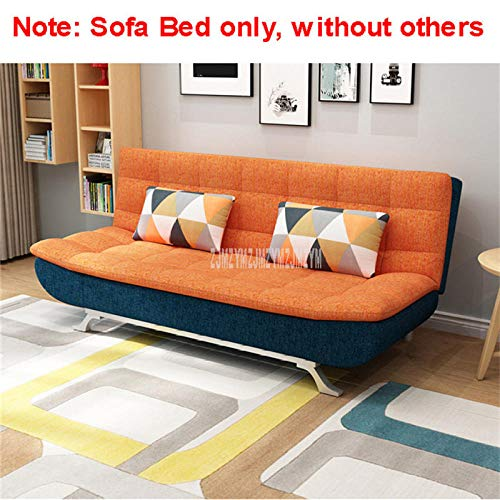 Best Price Mattress,,Protable Lazy Couch,Modern and Stylish Foldable Sofa Bed, Home Furniture, Double Apartment, Multifunctional Sofa, Lazy Sofa, Removable and Washable-Orange Blue