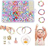 Juguete de Cuentas de Niños DIY, Cuentas Coloridas para Hacer Joyas para Niños Pulseras de Bricolaje Cuentas de Collares