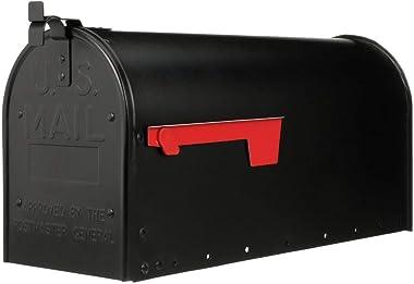 Gibraltar Mailboxes ADM16B01 Admiral Large Post-Mount Mailbox, Black