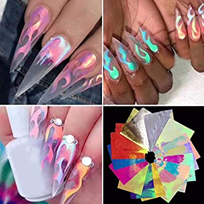 Flame Reflections Nail Stickers