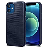 Spigen Cover Liquid Air Compatibile con iPhone 12 Mini - Navy Blue