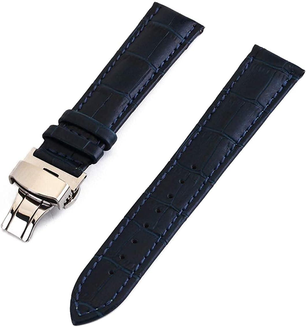 QZMX Watch Strap Sacramento Mall Very popular! Crocodile Leather 14mm 12mm 15m 13mm Band