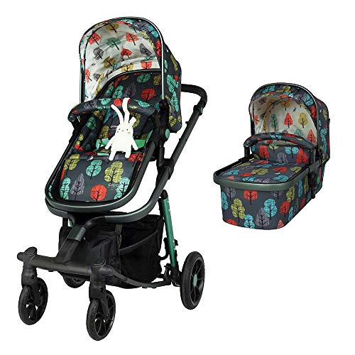 Cosatto Giggle Quad Pram & Pushchair – From Birth to 20kg, Lightweight, Compact Fold, Duo-directional Seat (Hare Wood)