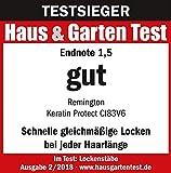 Remington Lockenstab Keratin Protect CI83V6, kegelförmig, hochwertige Grip-Tech-Keramikbeschichtung, grau/rose gold - 9
