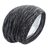 Satin Bonnet Silk Lined Sleep Cap Hair Cover Frizzy Hair Beanie Adjustable Slouchy Night Cap Hair Protection Patients Care (Zebra color)