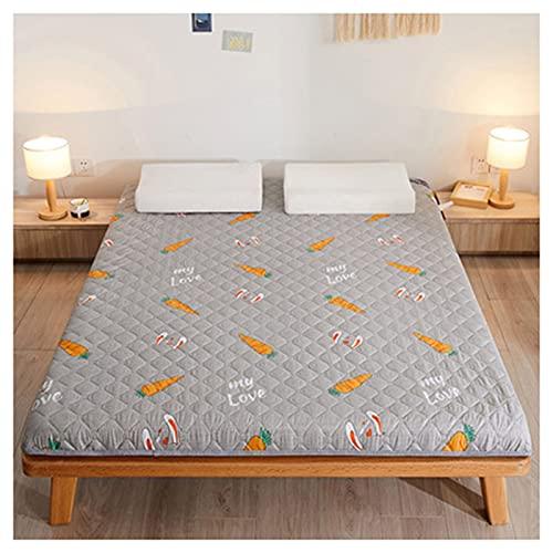 HFAFRZ Colchón grueso del piso del futón para los adultos, japonés 5.5cm espesan futón colchón plegable cama de piso portátil Camping colchón, E, 150x200cm